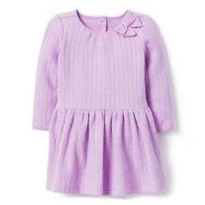 Janie and Jack lavender cable-knit sweater dress